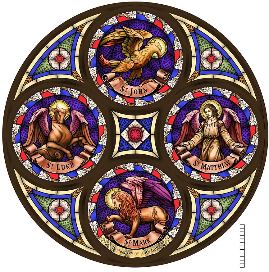 new stained glass designs, new stained glass fabrication