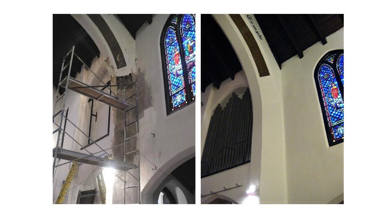 church plaster repair, plaster repair,