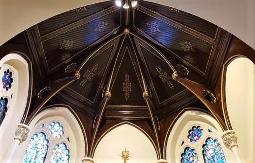 church painting, church painter, wood restorations, gold leafing, New Rochelle NY