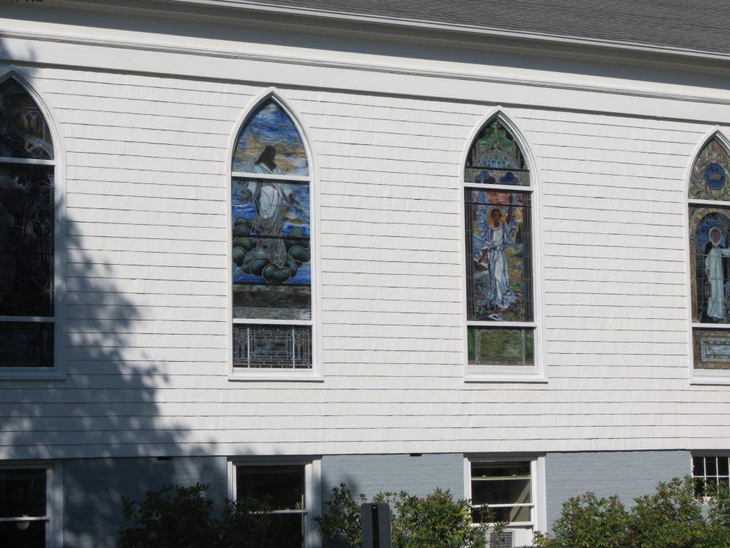 stained glass window repair, stained glass window protective coverings