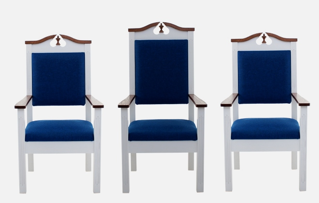clergy chairs, pulpit chair set, presider chairs, church furniture
