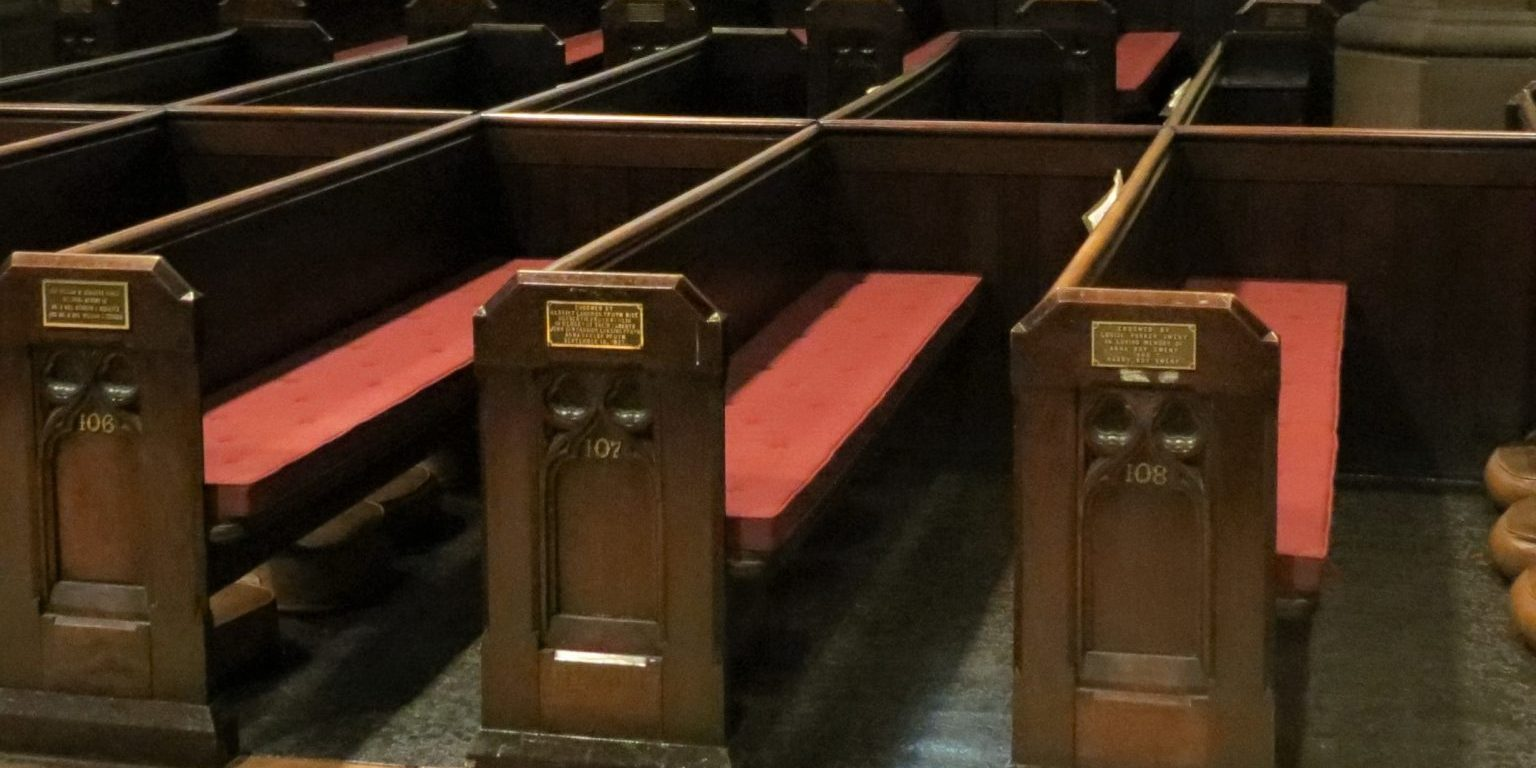 reversible pew pads, church pew cushions, Albany NY